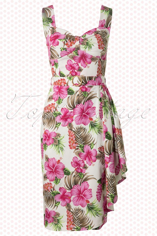 50s tallulah pink hibiscus sarong dress hibiscus flower dresses 50s tallulah pink hibiscus sarong dress izmirmasajfo