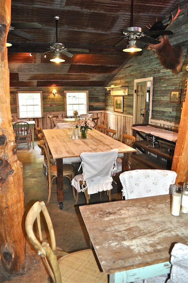 Rustic Interior Wood Walls Rusty Tin Ceiling Home