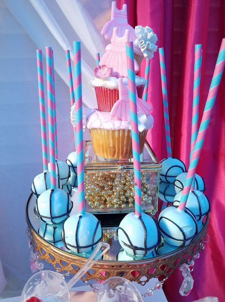 Basketball Or Cheerleader Gender Reveal Party Ideas Photo 8 Of 12 Gender Reveal Party Decorations Gender Reveal Decorations Gender Reveal Party Theme