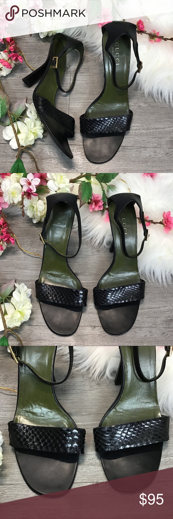 bc7124eef Spotted while shopping on Poshmark: GUCCI Snake Heel Sandals! #poshmark  #fashion #shopping #style #Gucci #Shoes