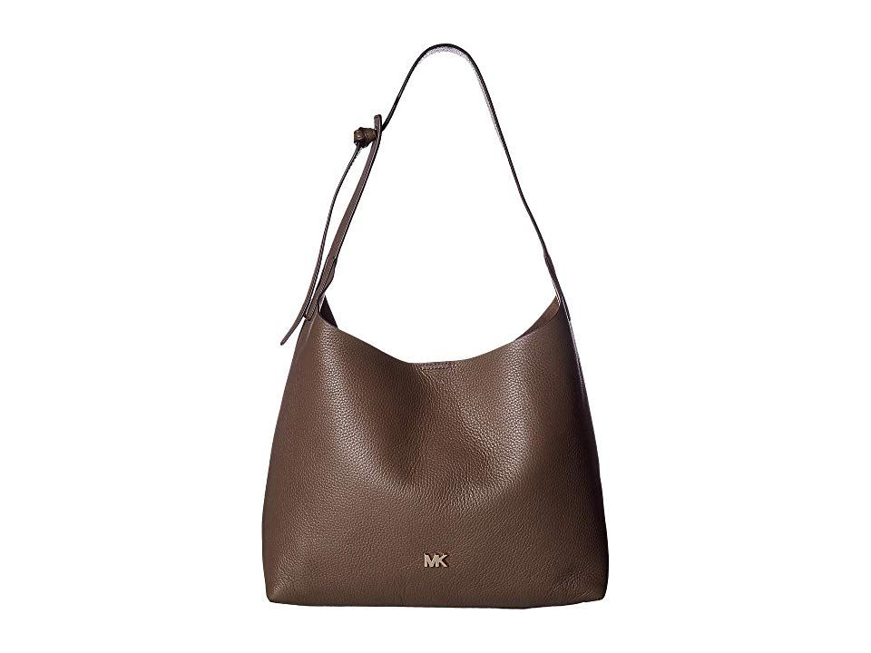 MICHAEL Michael Kors Junie Medium Hobo Mushroom Hobo Handbags Make everyday stylish and fresh when you carry the MICHAL Michael Kors Junie Medium Hobo bag Made of softly...