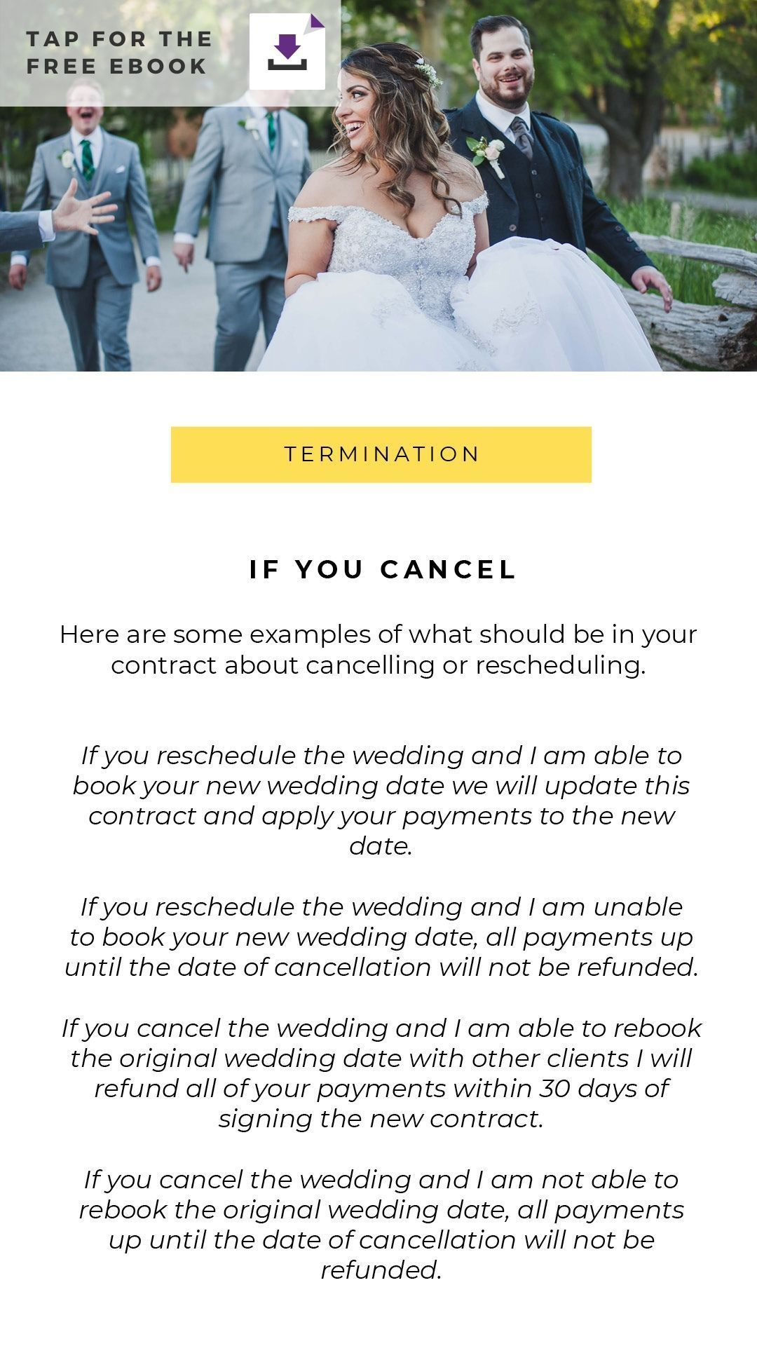 Wedding Photography Contracts Guide Photography contract