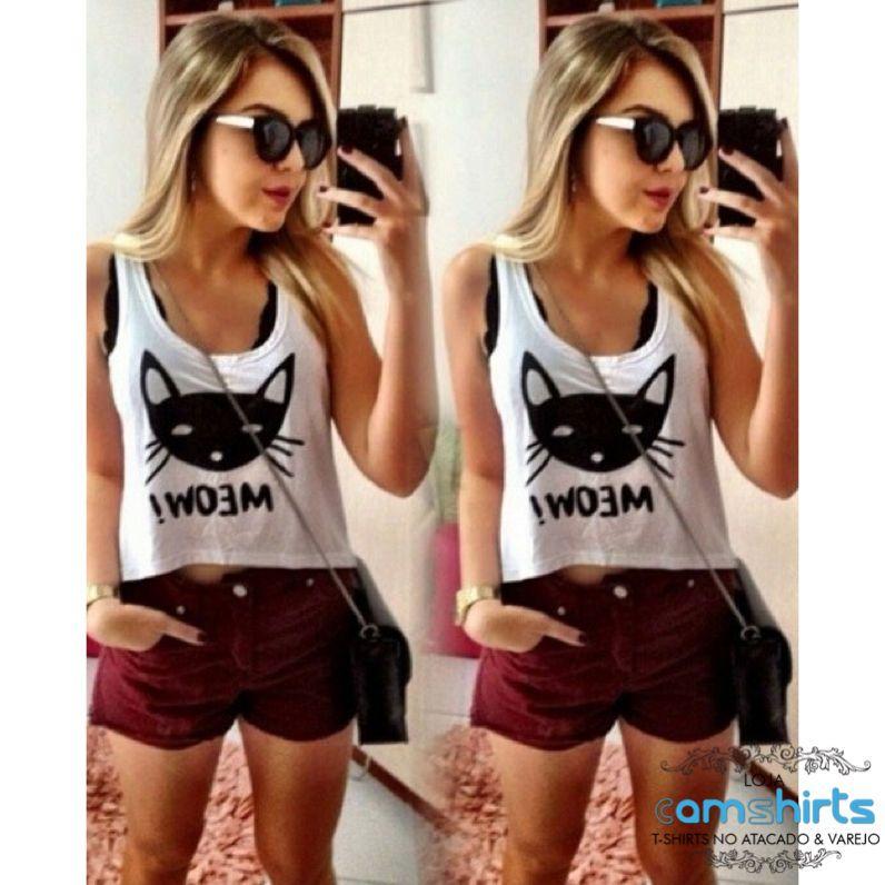 Crop Top - Meow!  - Cam Shirts