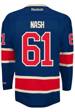 New York Rangers Rick NASH  61 Official Third Reebok Premier Replica NHL  Hockey Jersey ( 2084897b4