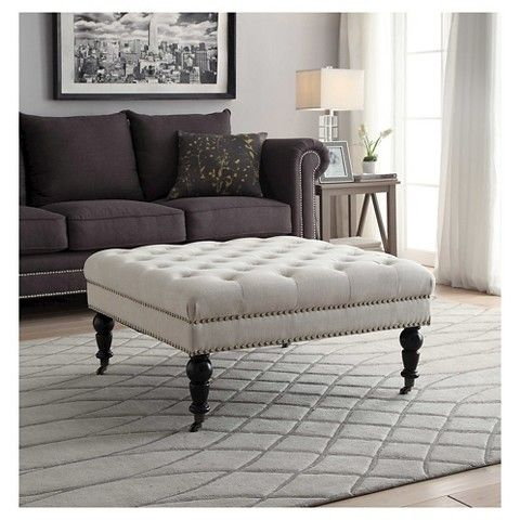 Swell Isabelle Square Tufted Ottoman Home Decor Square Ottoman Caraccident5 Cool Chair Designs And Ideas Caraccident5Info