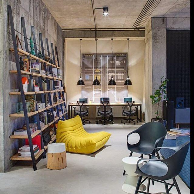 Kiev, Ukraine, this creative industrial space was designed by Sergey Makhno for Dizaap #sergeymakhno #dizaap #inandoutdecor