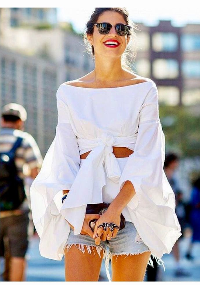 Okay white with light/washes out denim! Fashion week