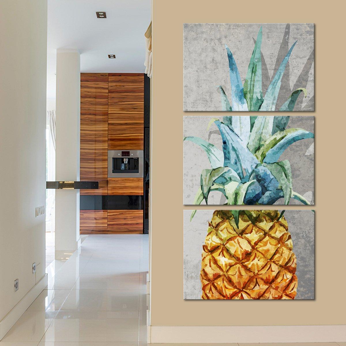 Tropical Pineapple Multi Panel Canvas Wall Art Tropical Decor Tropical Interior Design Tropical House Design
