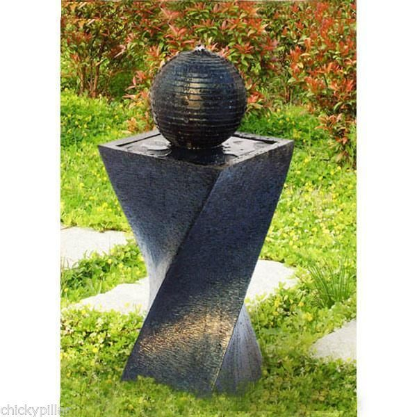 Solar Power Outdoor Water Fountains | Solar Twist Fountain Outdoor Garden  Water Feature Peaceful Atmosphere .