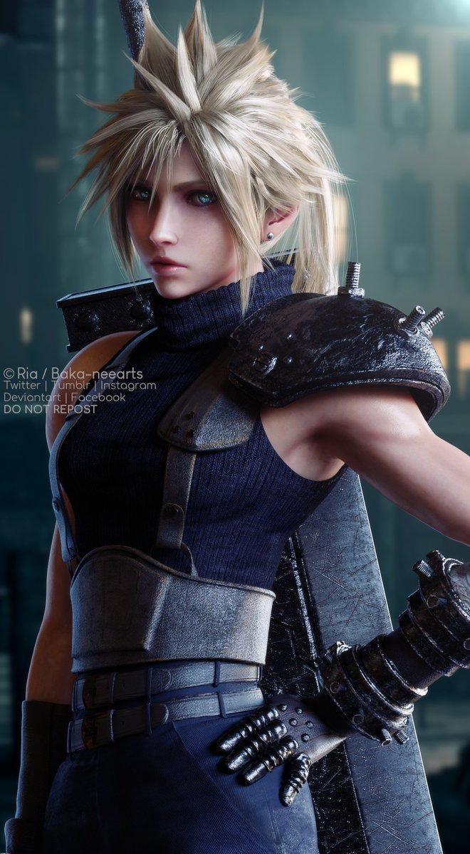 Ria On Twitter Final Fantasy Art Cloud Strife Final Fantasy Vii Remake