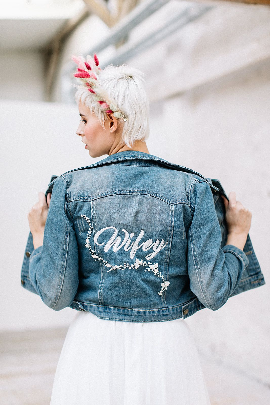 "Photo of Jeansjacke "" Wifey"" – ELBBRAUT"