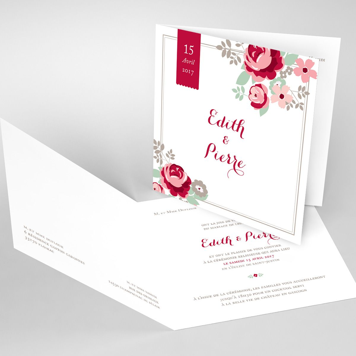 Mariage Rose Chic Wedding Invitations Wedding Diy Cards