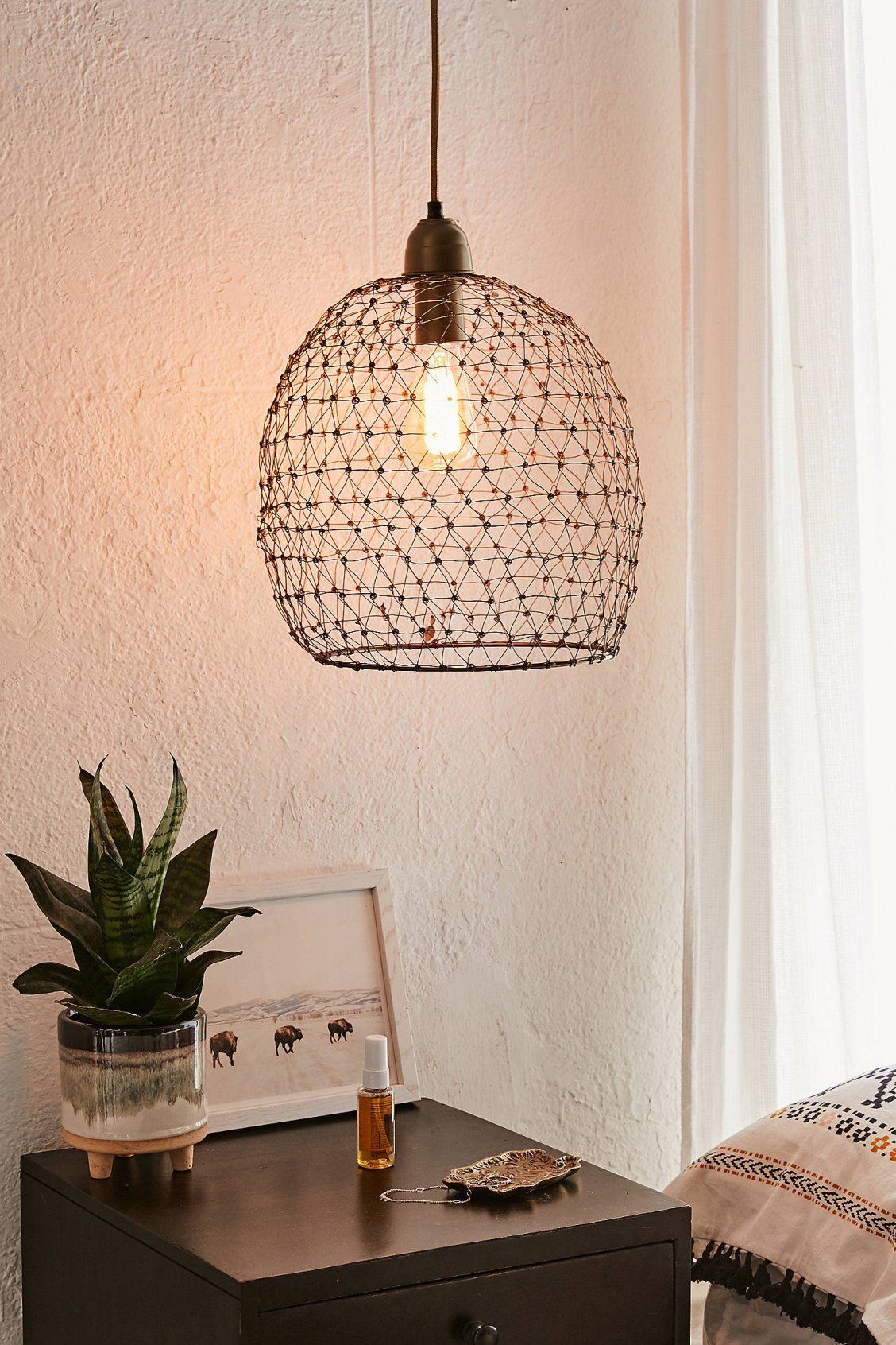 Vera Woven Wire Pendant Light | Urban Outfitters | Wire ...