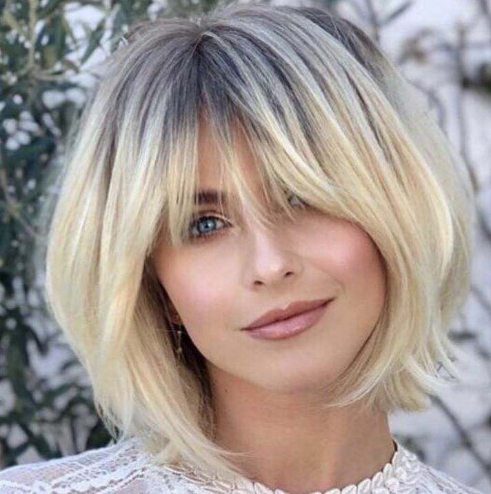Best bobs 2019 – how beautiful is this cut on Julianne Hough, classic bob with soft bangs - New Site #juliannehoughstyle