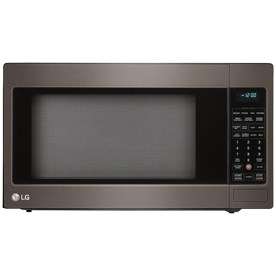 Lg 2 Cu Ft 1200 Watt Countertop Microwave Fingerprint Resistant Black Stainless Steel Countertop Microwave Countertop Microwave Oven Stainless Steel Oven