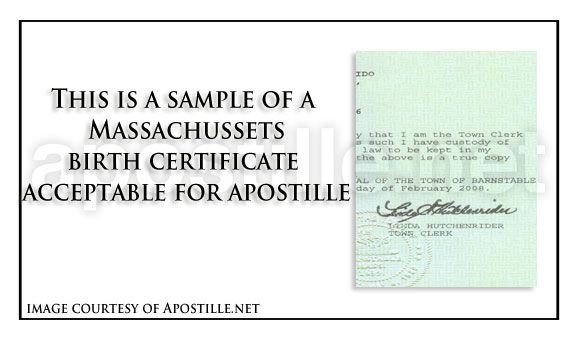 Massachusetts birth certificate suitable for apostille state of massachusetts birth certificate suitable for apostille yadclub Images