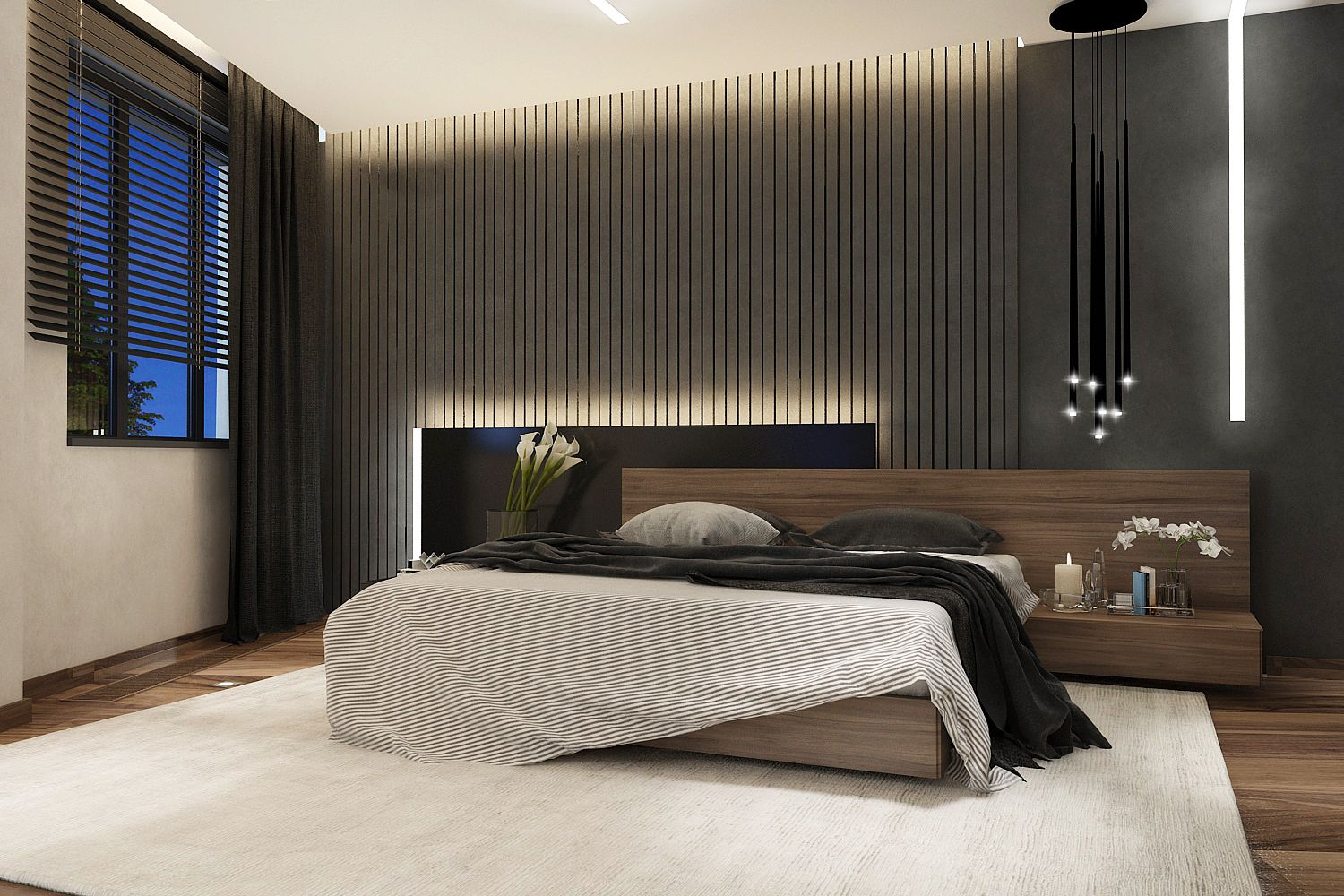 modern. Black Bedroom Furniture Sets. Home Design Ideas