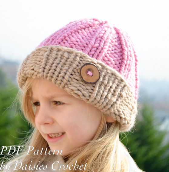 Knitting pattern. Reversible beanie. Clomder by daisiescrochet ...