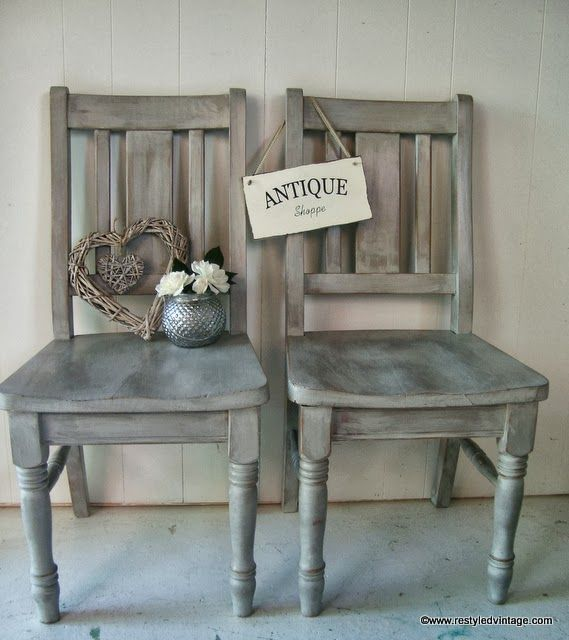 Restyled Vintage French Willow Grey Whitewashed Chairs : whitewashed chairs - Cheerinfomania.Com