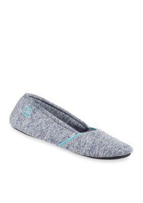 Isotoner  Slippers NavyBlue Heathered Sport Ballerina Slippers