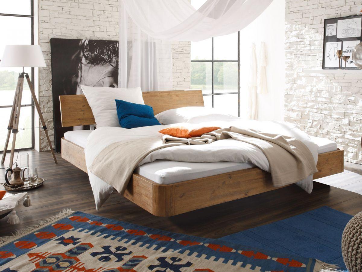 Bett Holz Akazie Dopellbett Ehebett 180x200 Möbel Schlafen