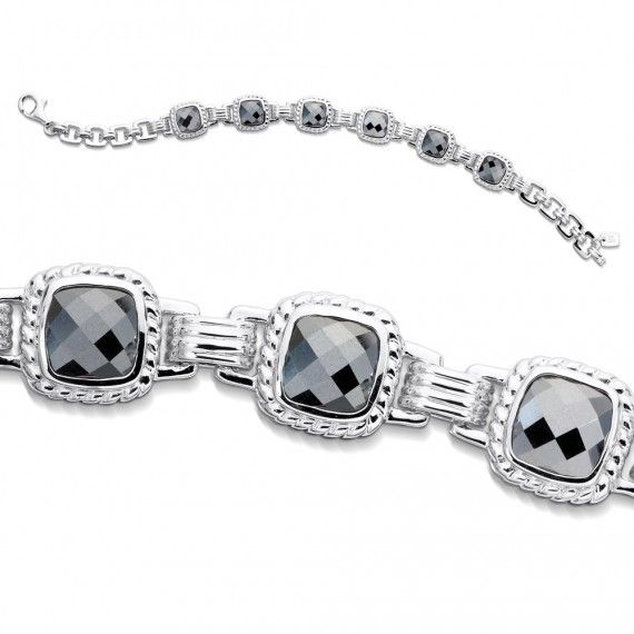 We'd love to see this under the tree!  Sterling silver and hematite fusion bracelet