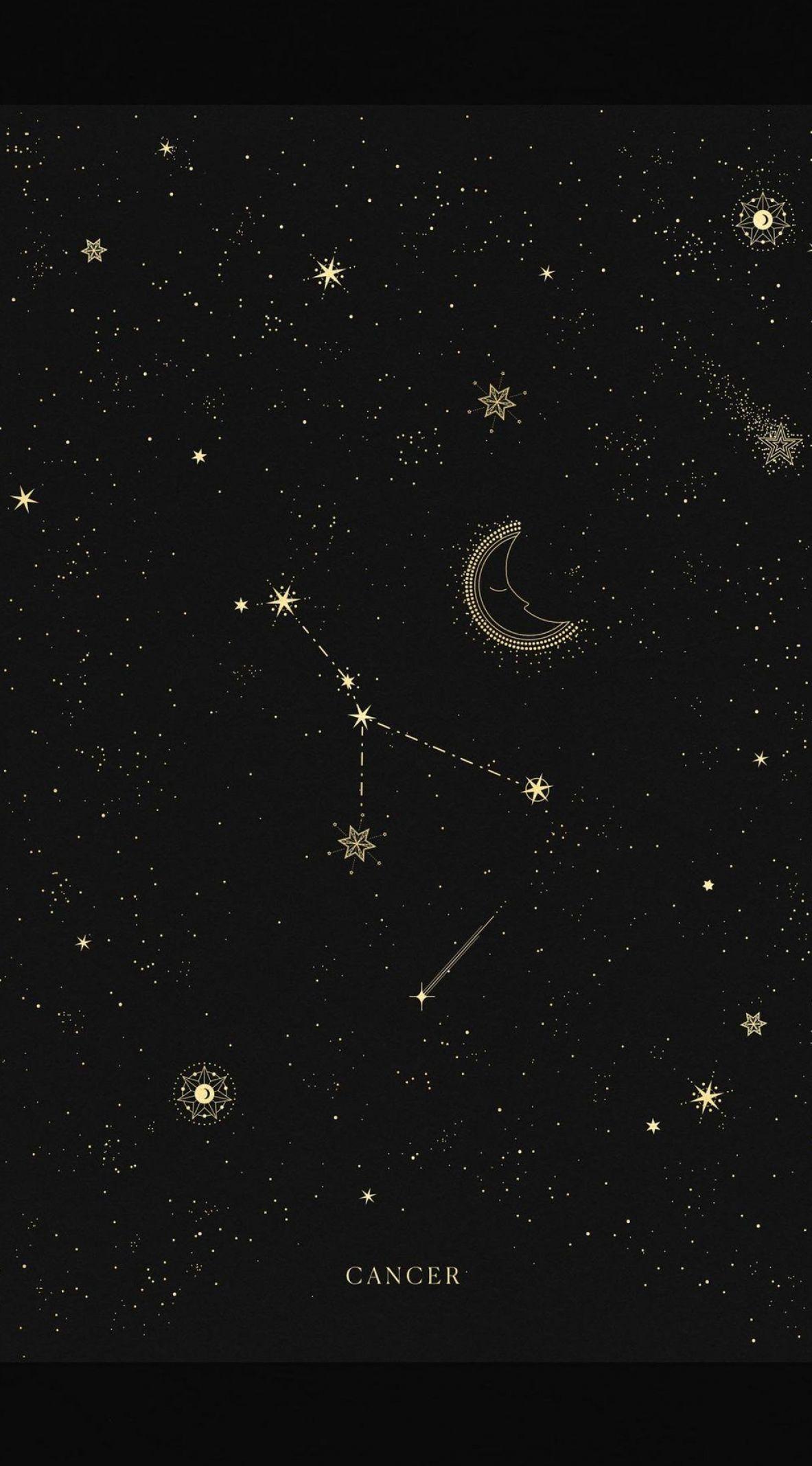 Cancer Constellation Wallpaper Cancer Constellation Wallpaper Cancer Zodiac Mystic Wallpaper Cancer Constellation