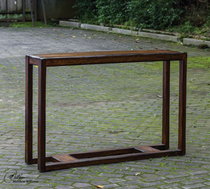 Great Narrow Console Table 52w X 34h 12 Deep Good For A Sofa Back Or In Hallway From Uttermost