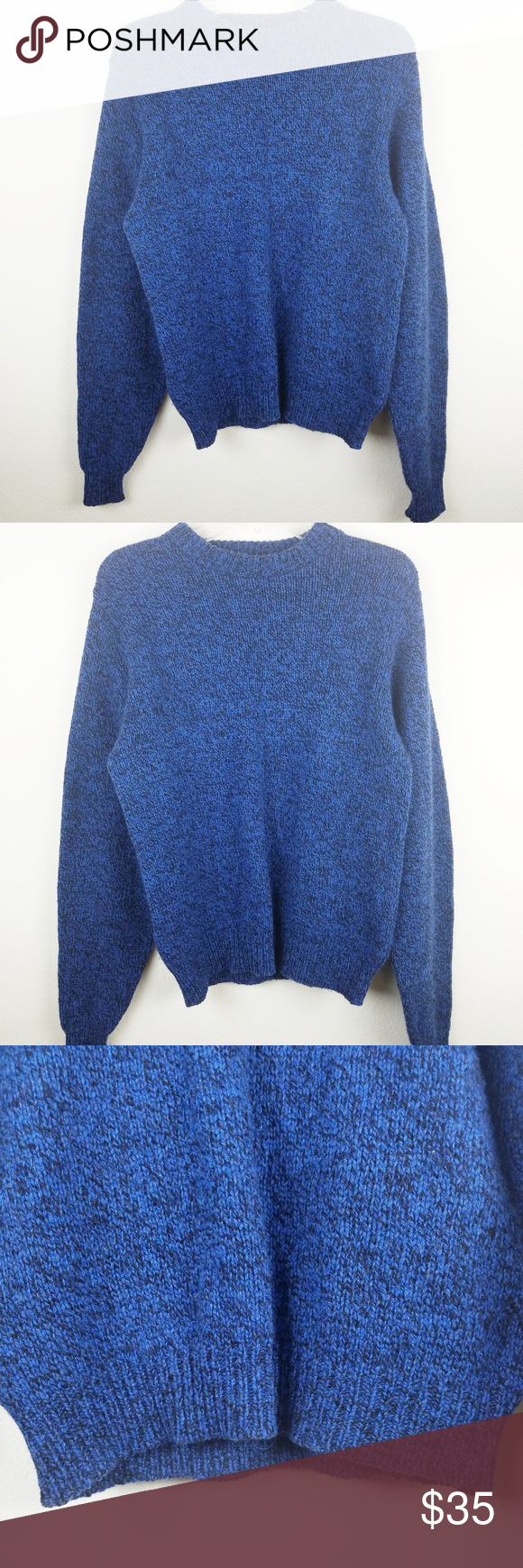 c5f74c4814a9 Lands End Wool Retro Chunky Oversized Sweater LANDS  END Women s Retro  Chunky Oversized Sweater Made