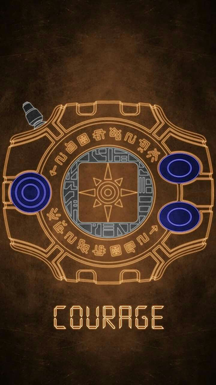 Digivice Crest Of Courage Digimon Pinterest Digimon Wallpaper