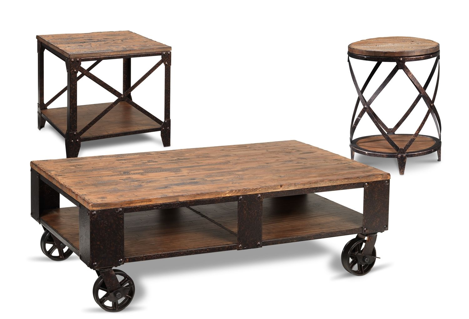 Pinebrook Occasional Tables Collection Leon S Coffee Table Furniture Rustic Industrial Furniture [ 1019 x 1500 Pixel ]