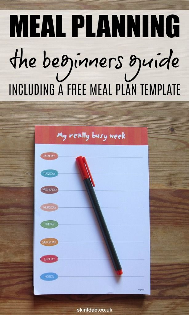 Meal Planning The Beginner's Guide (with free meal plan template is part of Organization Journal Meal Planning - If you're new to meal planning, this guide will show you the basics to start creating a meal plan, with a free downloadable template to get you started