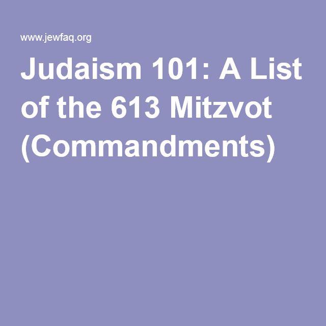The Law All 613 Commandments