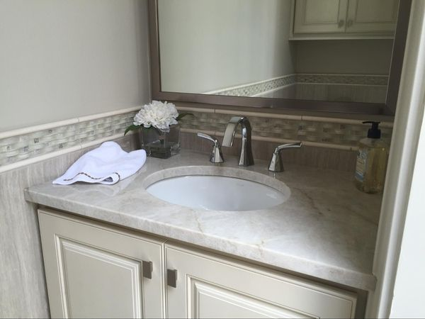 Taj Mahal Quartzite Vanity By Luxury Countertops Quartz Bathroom
