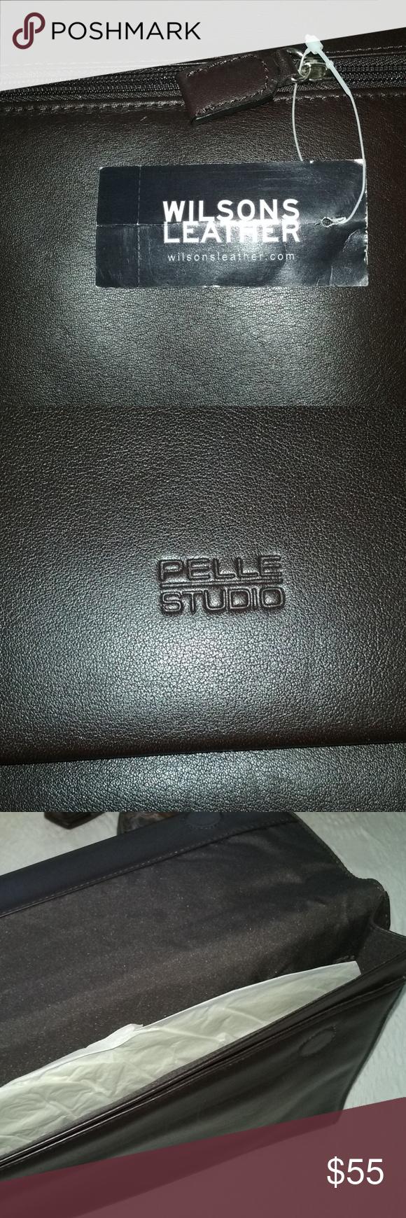 100 leather business portfolio/briefcase Very classy