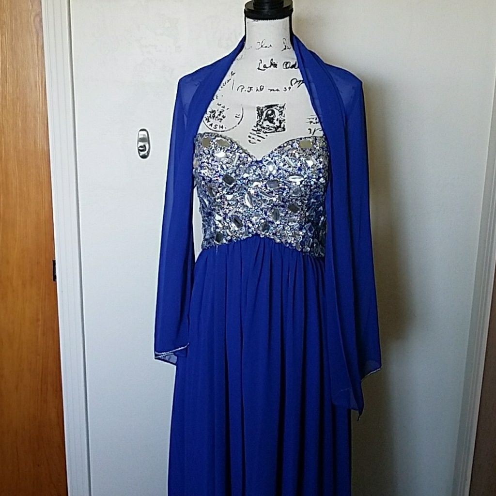 Eureka blue floor length prom dress blue floor and products
