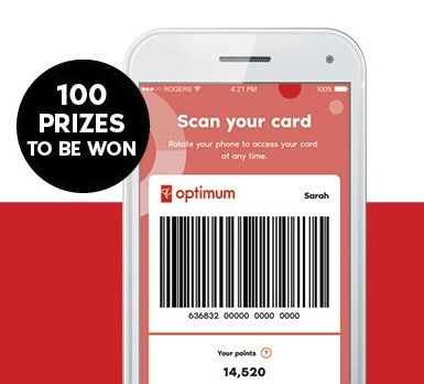 a PC Optimum member and you could win 1 of 100