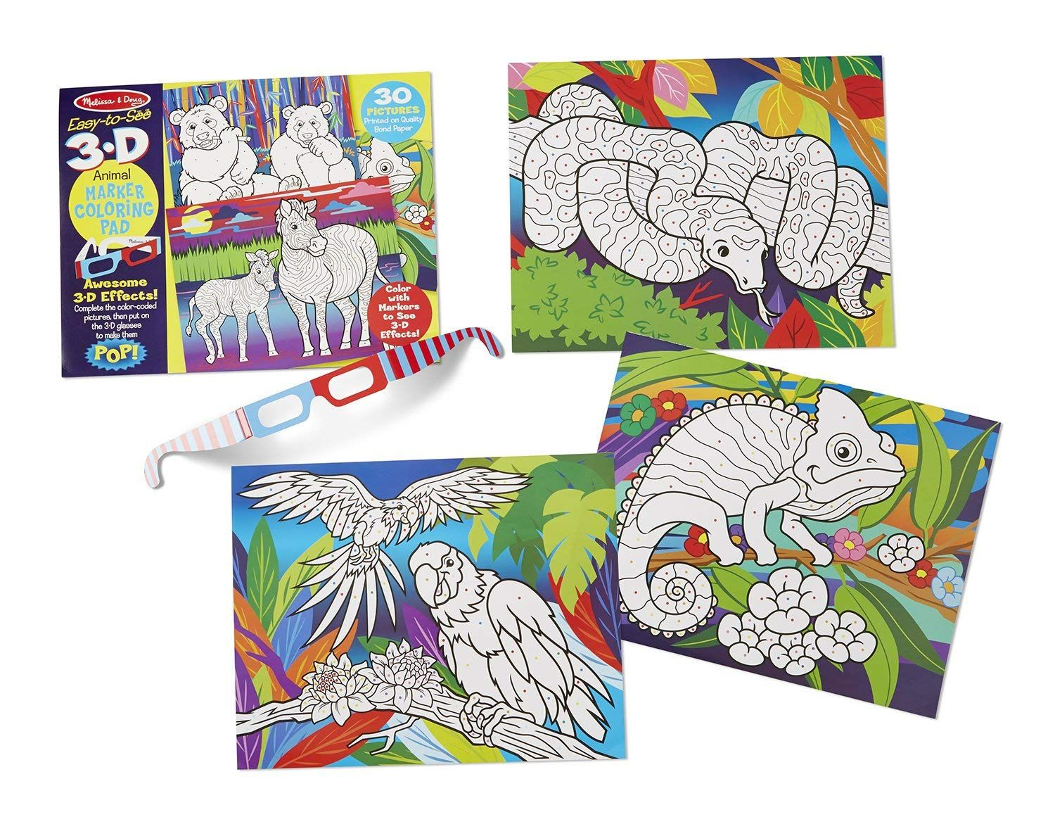 Melissa And Doug Easy To See 3 D Coloring Pad Animals Look Into The Photo By Visiting The Web L Coloring Books Toddler Coloring Book Animal Coloring Books