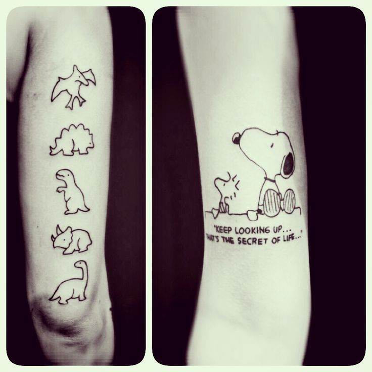 Snoopy Tattoo The Most Famous Beagle In The World Dinosaur Tattoo