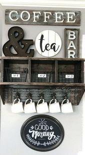 15 außergewöhnliche DIY-Kaffeebar-Ideen für Ihr gemütliches Zuhause …