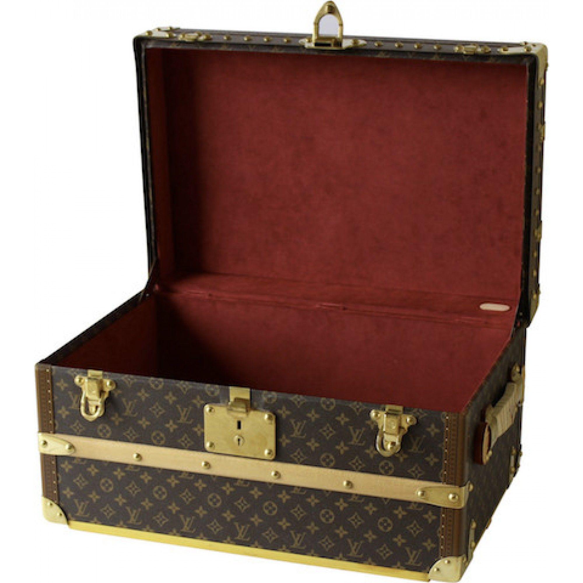 Louis Vuitton Mini Cabin Trunk with Red Velvet Interior - Louis ...