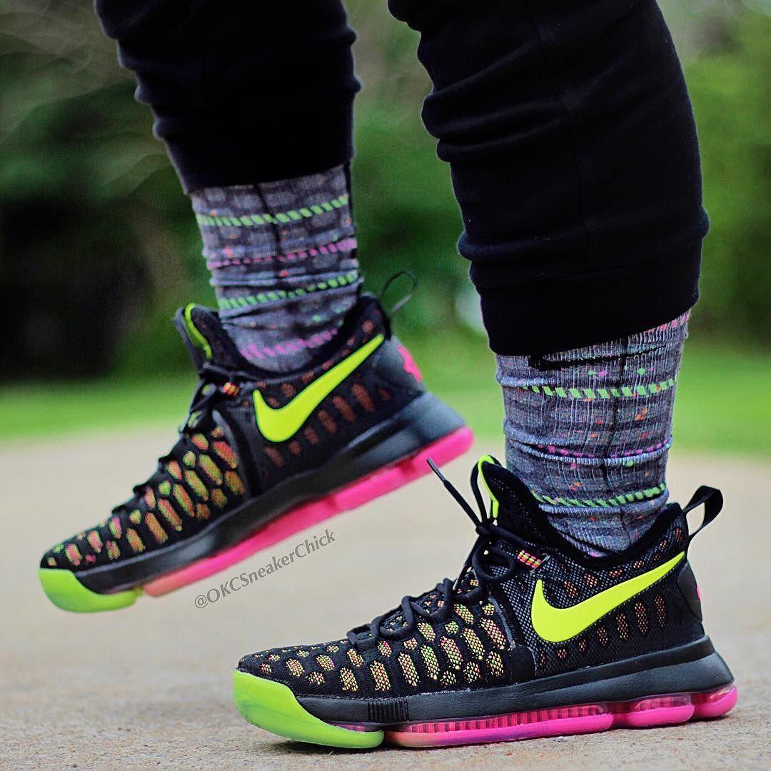 the best attitude 589b4 8a3e3 KD 9 Unlimited (Aug 4) Custom Nike Elites and Elite Versatility Socks ONLY  at SneakerWork.com