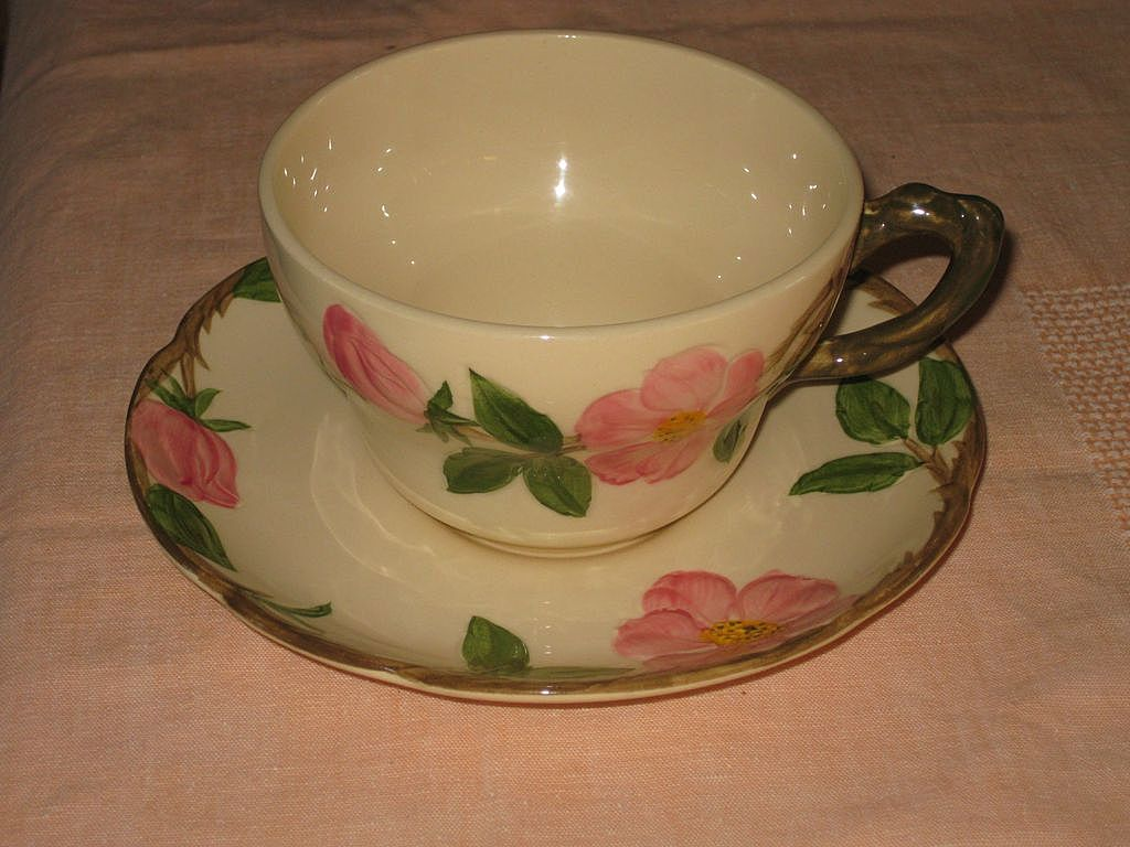 Vintage Franciscan Desert Rose Dinnerware | Franciscan Desert Rose Coffee Cup and Saucer from haastreasures on & Vintage Franciscan Desert Rose Dinnerware | Franciscan Desert Rose ...