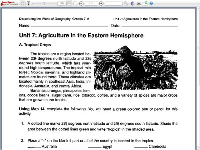Printables Hemisphere Worksheet eastern hemisphere map 6th 12th grade worksheet lesson planet agriculture in the 7th planet