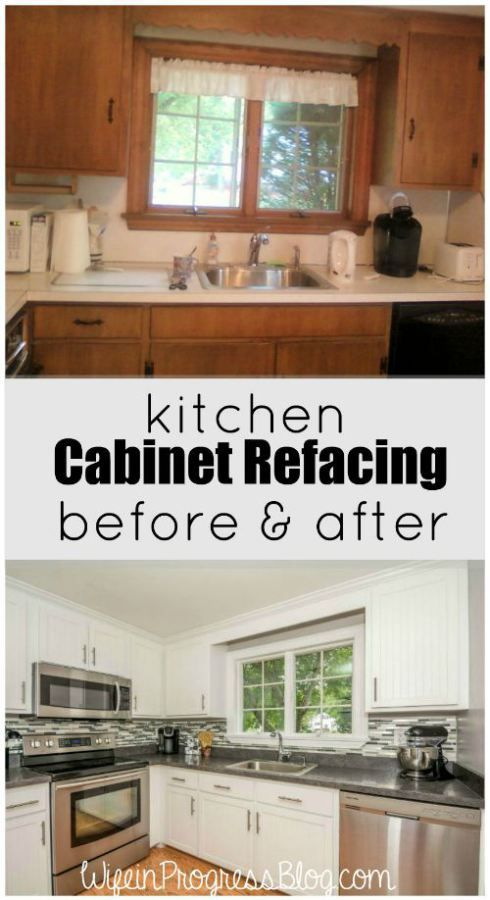 Kitchen Cabinet Refacing Before and After | Home | Pinterest ...
