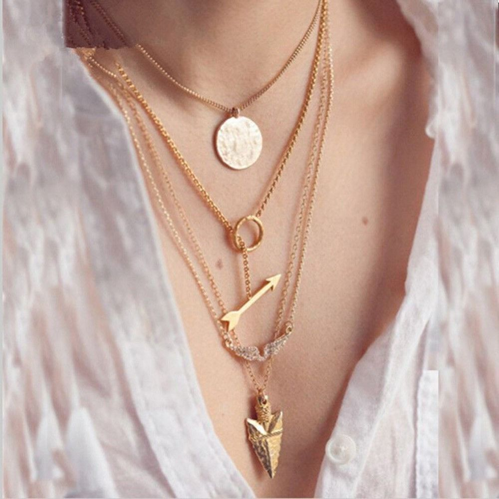 Gold layers sunshine chain neckclace sunshine chains and gold
