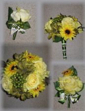 John Deere Wedding Bouquets!  Don't forget country themed personalized napkins for your big day! #country #rustic www.napkinspersonalized.com