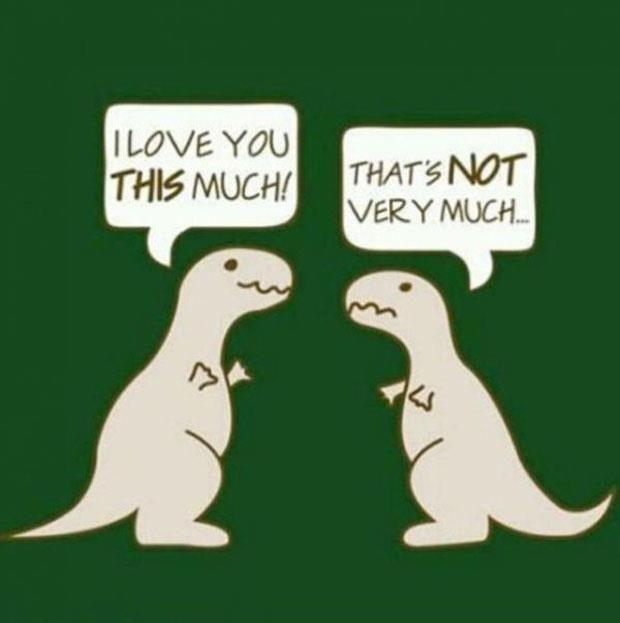 Here Is A Funny Picture Of TRex Love So Cute This Killing - T rex bed