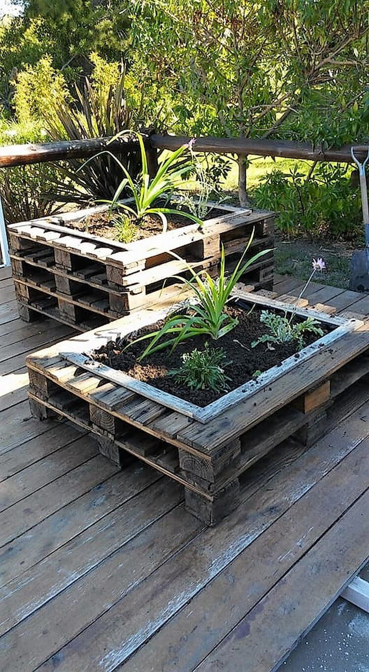 Diy Recycled Holzpalette Pflanzer In 2020 Wood Pallet Planters Pallets Garden Pallet Planter Diy