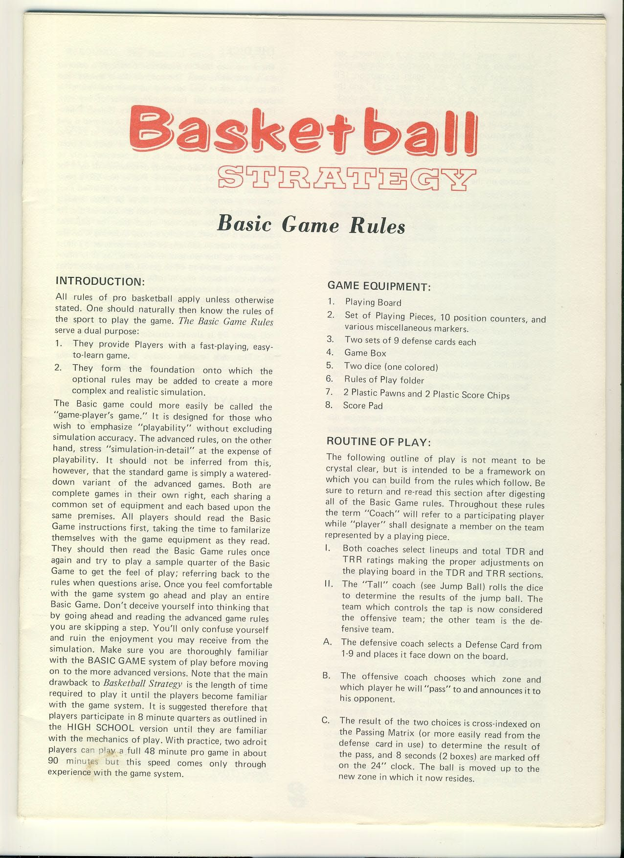 Basketball strategy basic game rules 24 pages ref100008